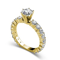 2.75CT Round Cut Diamonds Engagement Ring