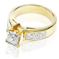 1.40CT Princess Cut Diamonds Engagement Ring