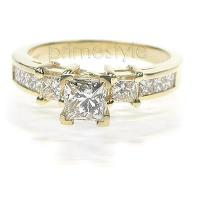 1.20CT Princess Cut Diamonds Engagement Ring