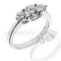 1.00CT Round Cut Diamonds Three Stone Ring