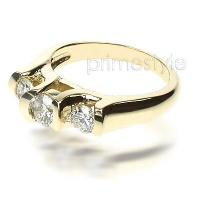 1.15CT Round Cut Diamonds Three Stone Ring