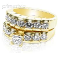1.85CT Round Cut Diamonds Bridal Set