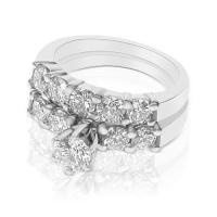 1.75CT Round Cut Diamonds Bridal Set