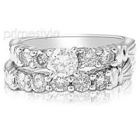 Engagement Ring and Wedding Band � 1.25CT Diamond Bridal Set