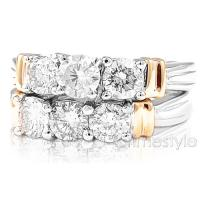 1.60CT Bridal Set with Round Cut Diamonds