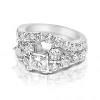 Bridal Set � 2.55CT Princess and Round Cut Diamonds