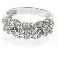 0.40CT Round Cut Diamonds Fashion Ring