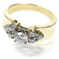0.75CT Round Cut Diamonds Fashion Ring