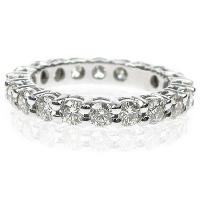 2.30CT Round Cut Diamonds Eternity Band