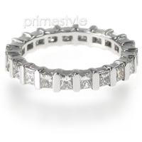 2.50CT Princess Cut Diamonds Eternity Band
