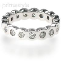 1.30CT Round Cut Diamonds Eternity Band