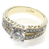 1.25CT Round Cut Diamonds Engagement Ring