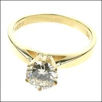 0.25CT Round Cut Diamond Solitaire Ring