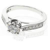 1.00CT Round Cut Diamonds Solitaire Ring
