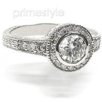 1.30CT Round Cut Diamonds Engagement Ring