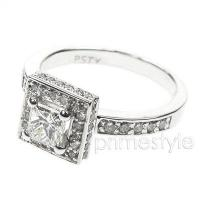 1.80CT Princess and Round Cut Diamonds Engagement Ring