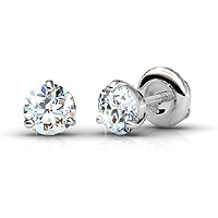 Diamond Stud Earrings with 0.25CT Total Weight In 14KT White Gold Setting