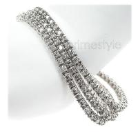 11.00CT Diamond Round Cut 14KT White Gold Tennis Bracelet
