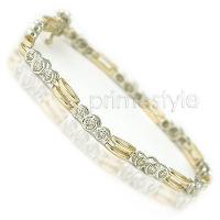 1.00CT Diamonds Tennis Bracelet and 14KT Two Tone
