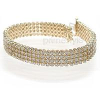 5.70CT Round Cut Diamonds (H/SI1-SI2) and 14KT Yellow Gold Bracelet