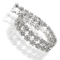 8.00CT Round Cut Diamonds Bracelet In 14KT White Gold