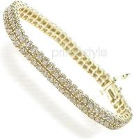 4.10CT Diamonds Bracelet In 14KT Yellow Gold