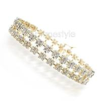 8.00CT Round Cut (H/SI1-SI2) Diamonds Bracelet