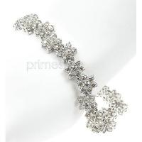 Diamonds Bracelet � 14KT White Gold and 5.20CT Round Cut Diamond