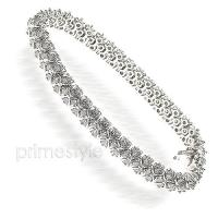 4.00CT Diamonds 14KT White Gold Bracelet