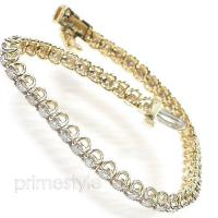 14KT Yellow Gold 2.00CT Round Cut Tennis Bracelet
