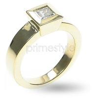 0.30CT Princess Cut Diamond Solitaire Ring