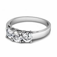0.30CT Round Cut Diamonds Three Stone Ring