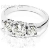 1.55CT Round Cut Diamonds Three Stone Ring