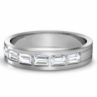 1.50CT Emerald Cut Diamonds Men's Wedding Band