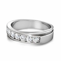 1.20CT Round Cut Diamonds Men's Wedding Band