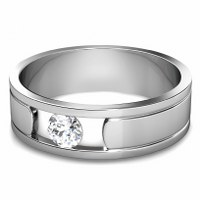 0.35CT Round Cut Diamond Men's Wedding Band