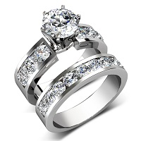 Bridal Set � 2.85CT round Cut Engagement Ring and Wedding Band