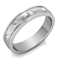 0.50CT Round Cut Diamond Men's Wedding Band