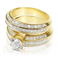 Diamond Bridal Set with 1.60CT Total Weight