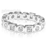 1.50CT Round and Princess Cut Diamonds Eternity Band