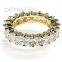 5.20CT Emerald Cut Diamonds Eternity Band
