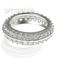 1.80CT Round Cut Diamonds Eternity Band