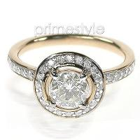 1.15CT Round Cut Diamonds Engagement Ring