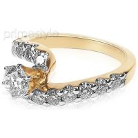 1.65CT Round Cut Diamonds Engagement Ring