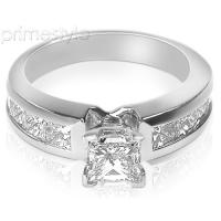 1.55CT Princess Cut Diamonds Engagement Ring
