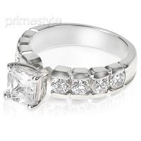 1.40CT Princess and Round Cut Diamonds Engagement Ring