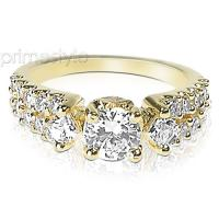 1.75CT Round and Princess Cut Diamonds Engagement Ring