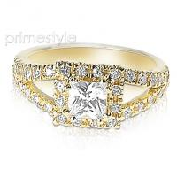 1.25CT princess and round Cut Diamonds Engagement Ring