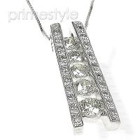 Diamond Journey Pendant 14KT White Gold 1.20CT Diamonds and VS2-SI1 Clarity