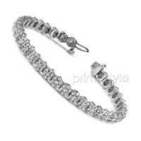 4.50CT Round Cut Diamonds Tennis Bracelet In 14KT White Gold